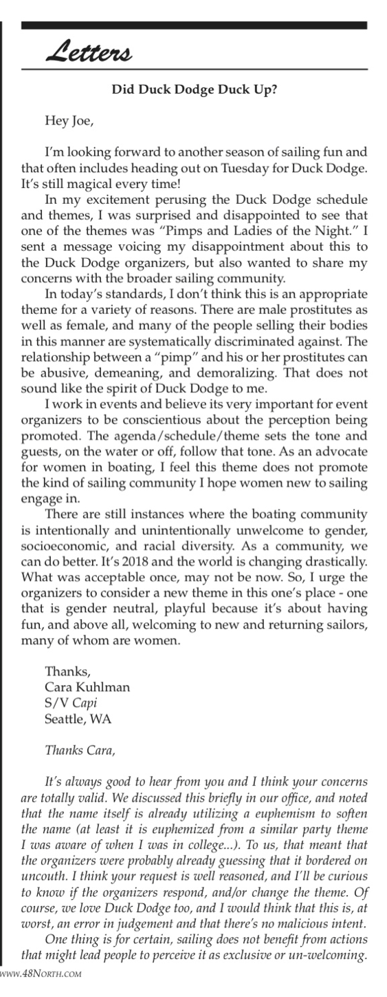 48º North June 2018 - Duck Dodge Letter to the Editor